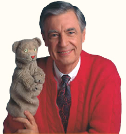 Mister Rogers and Daniel Striped Tiger
